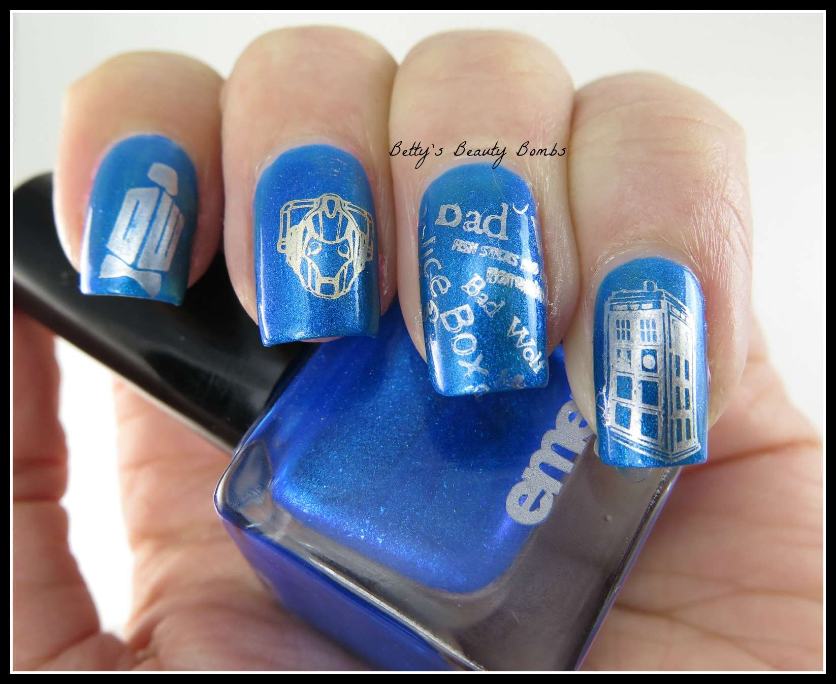 Doctor who nail art second regeneration lazy betty dr who stamping plates prinsesfo Gallery