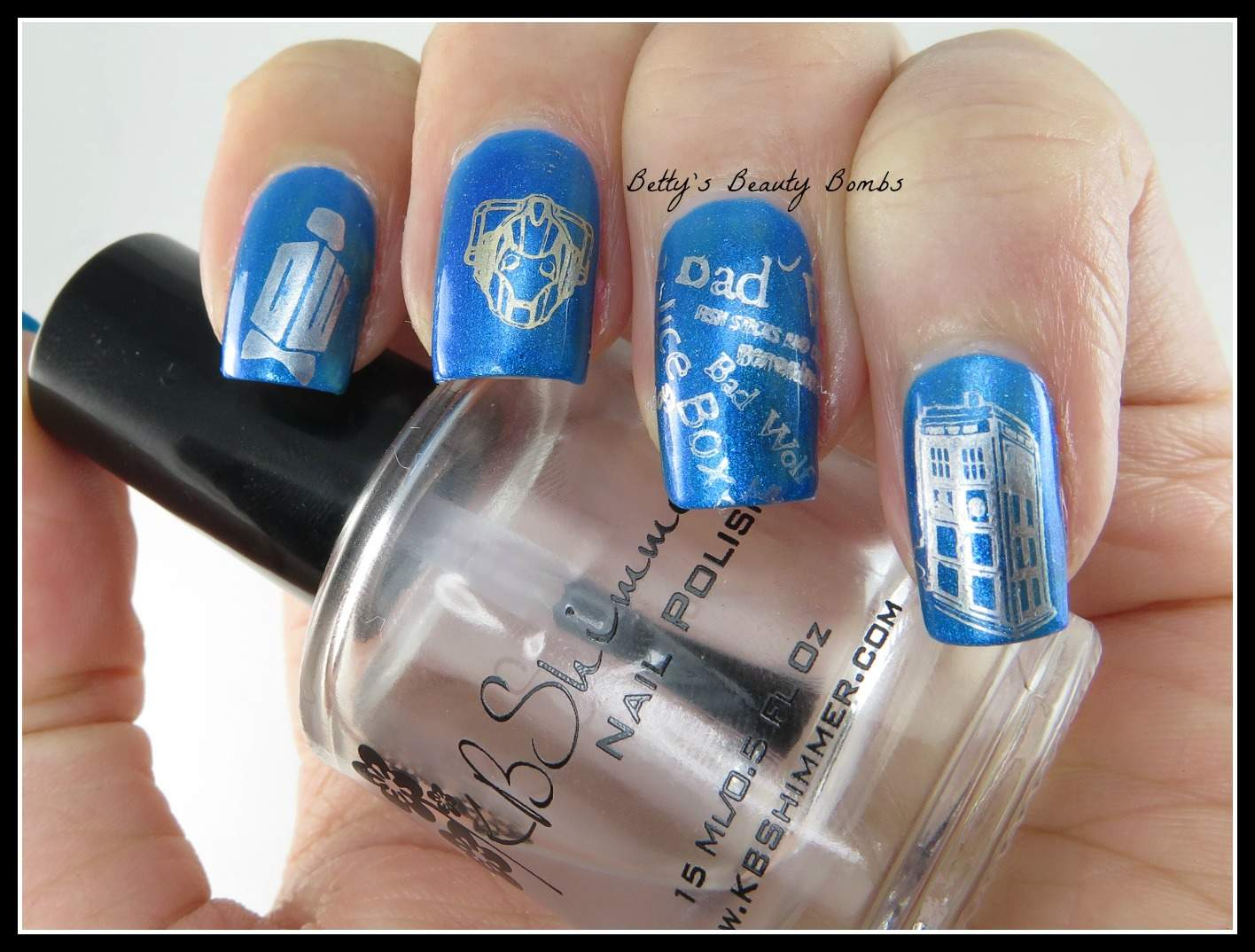 Doctor Who Nail Art Second Regeneration - Lazy Betty