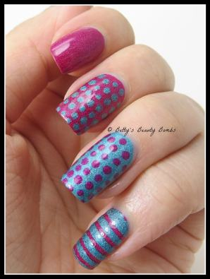 Stripe-and-dot-nail-art