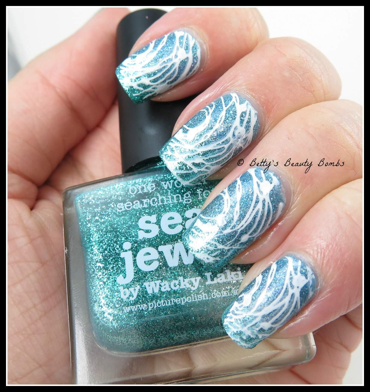 Ocean-Nail-Art - Ocean Nail Art For Challenge Your Nail Art - Lazy Betty