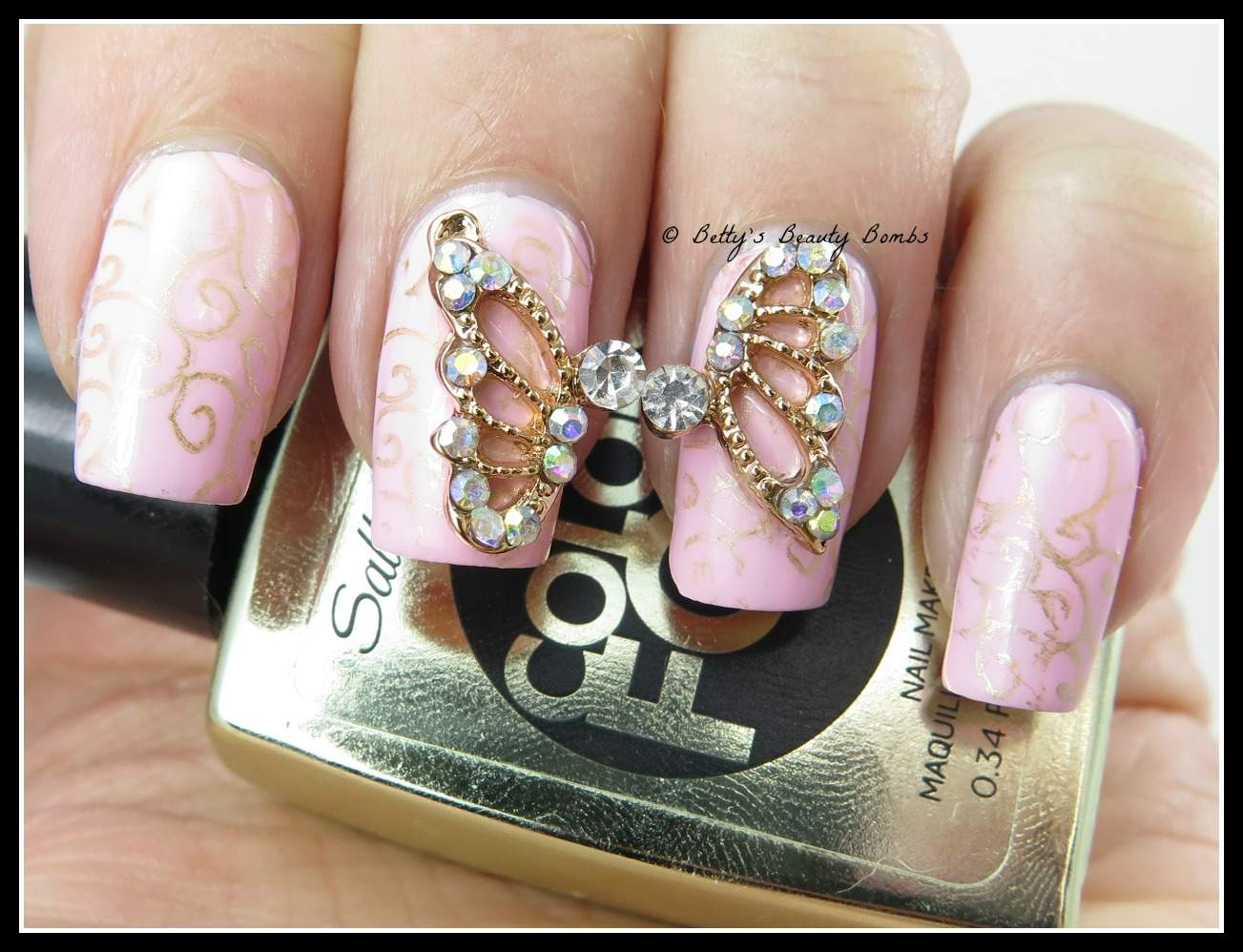 Born Pretty Store Butterfly Wing Rhinestone Nail Studs Review - Lazy ...