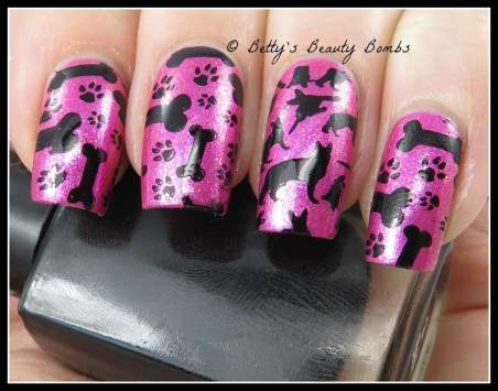 dog-themed-stamping-plate-nail-art