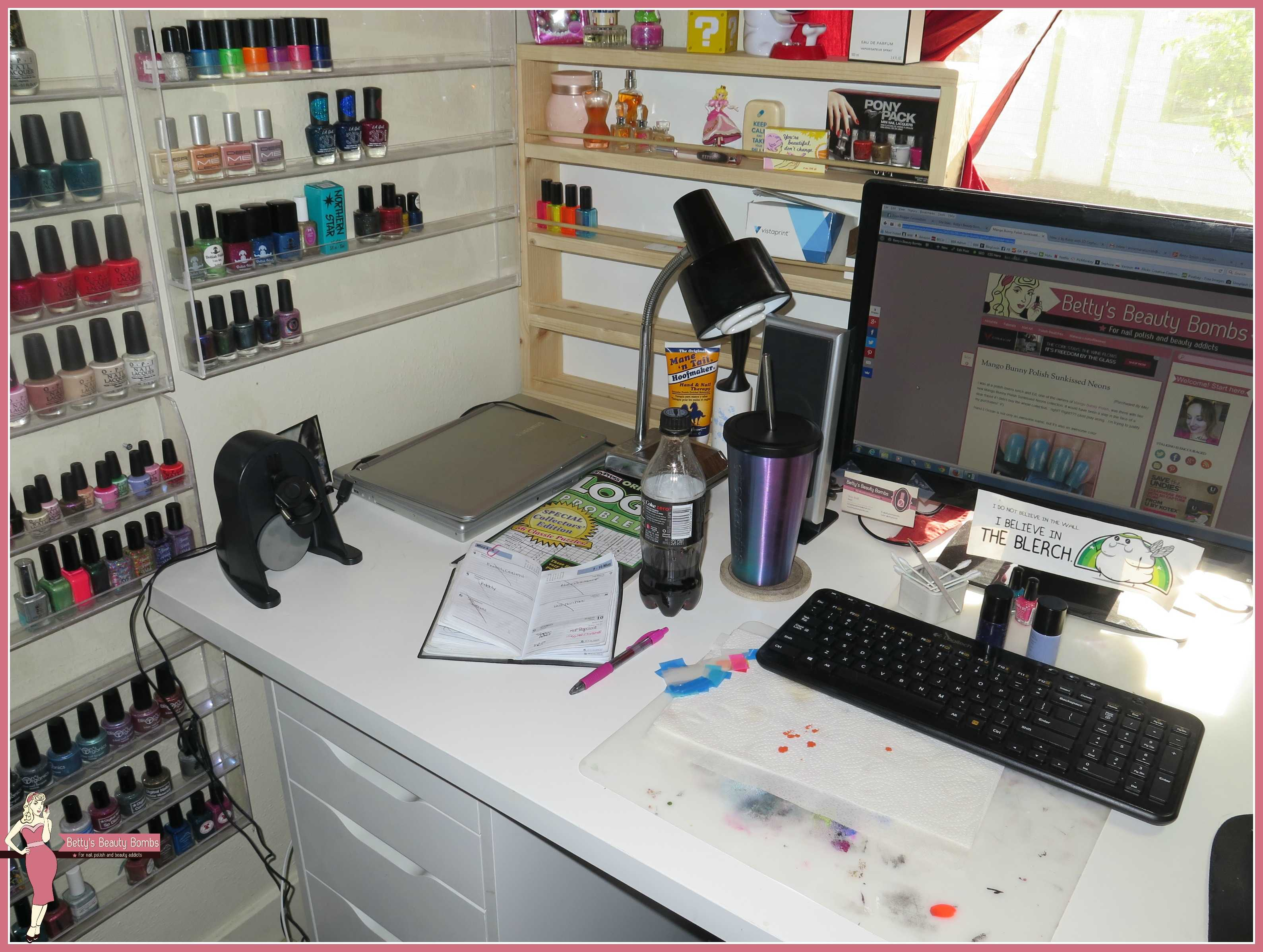 in desk nail one com nerd and all utnailnerd the salon organizer supply pin