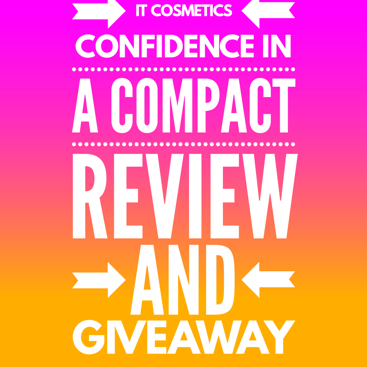 It Cosmetics Confidence in a Compact Review + Giveaway!