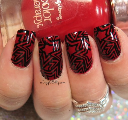 red-and-black-nail-art-look