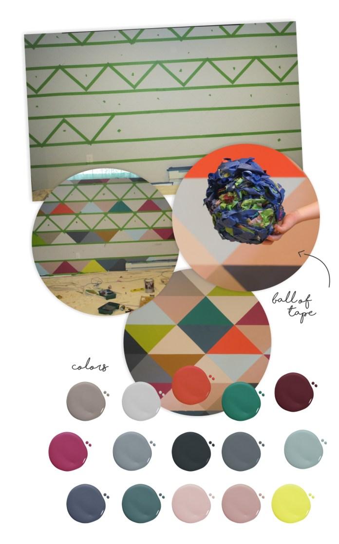 DIY Paint Wall Decor for Playroom