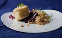 Sea Bass with Quinoa & Beets on betweencarpools.com
