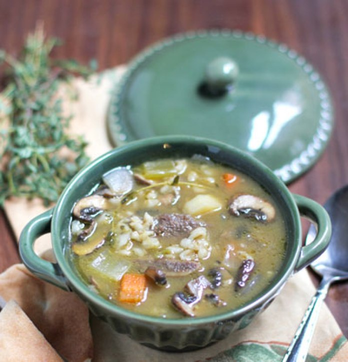 Crockpot Kosher Mushroom Barley Soup Crock-Pot Dishes