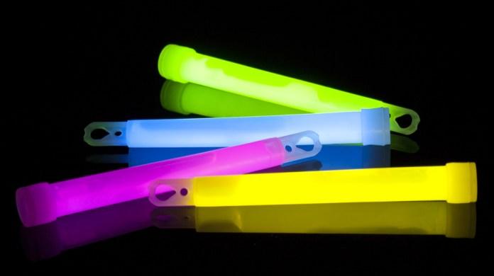 Glow sticks for an airplane flight