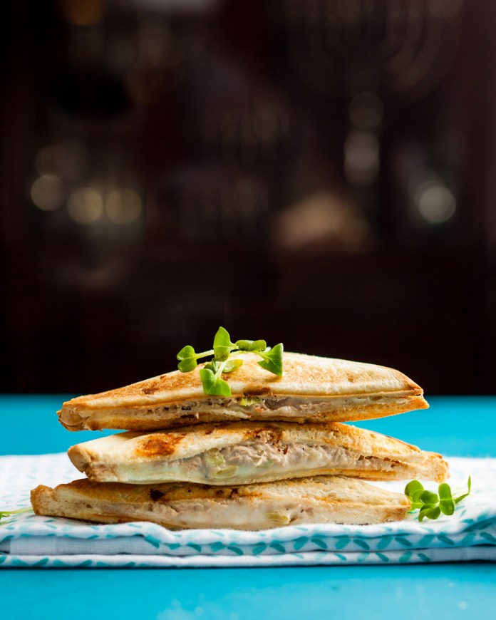 Cooking in a Hotel Room? 9 Ways to Use Your Sandwich Maker - Kosher Tuna Melt using a Sandwich Maker