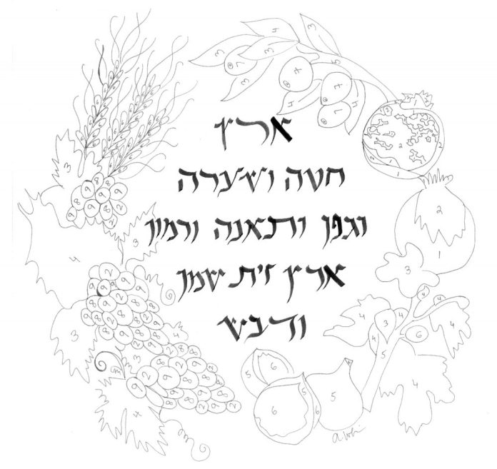 tu b shvat coloring pages - photo#19