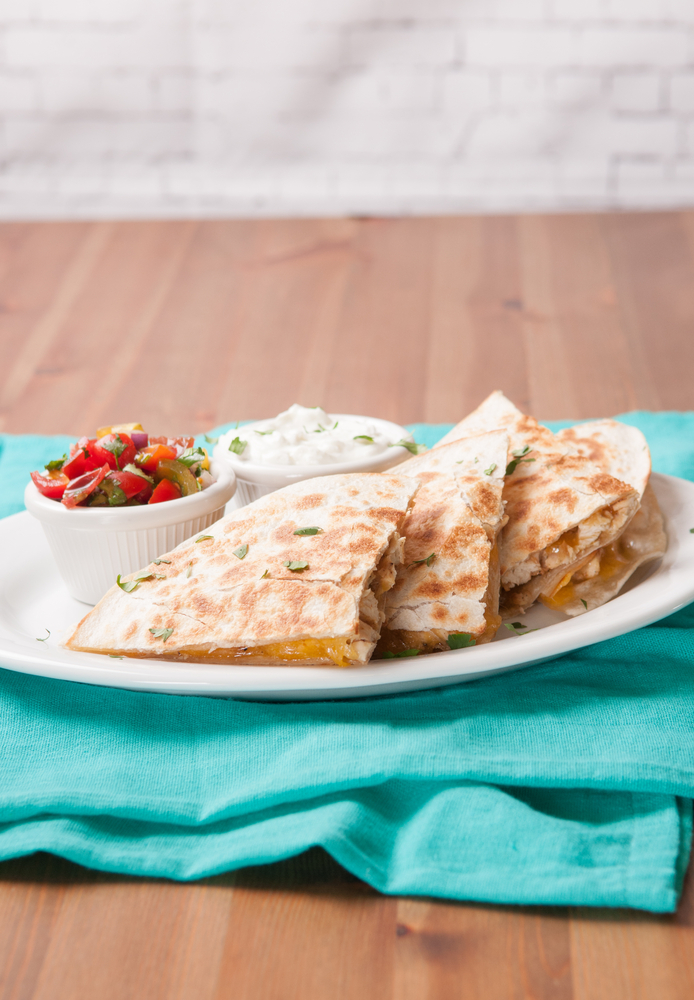 Simple, Satiating, and Easy...For a No-Fuss Dairy Meal, Make Quesadillas. Fill quesadillas with whatever you like + add toppings. Perfect recipes for the nine days.