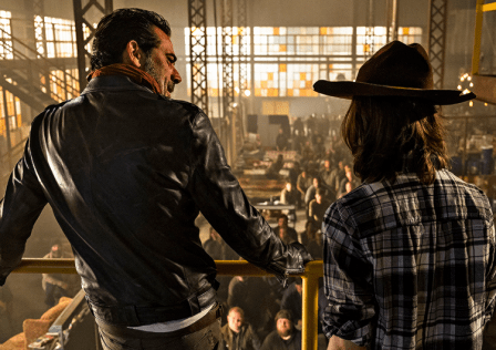 The Walking Dead - Season 7 episode 7 - Sing Me A Song. Negan and Carl.