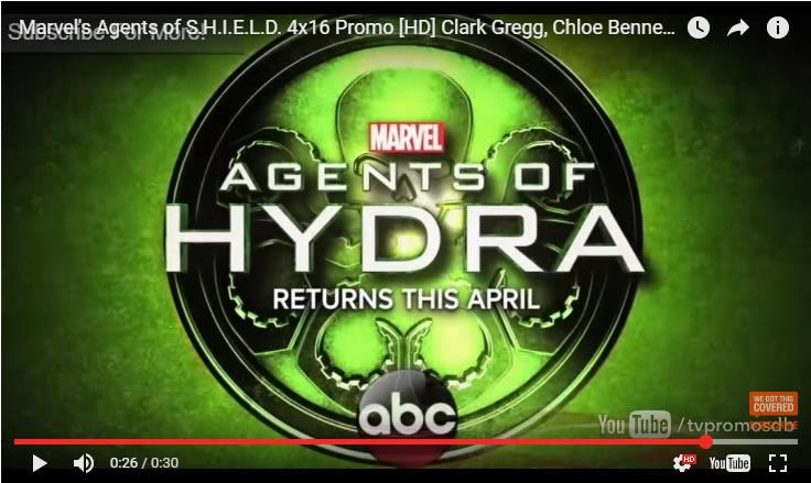 Marvel's Agents of H.Y.D.R.A. returns April2017 teaser