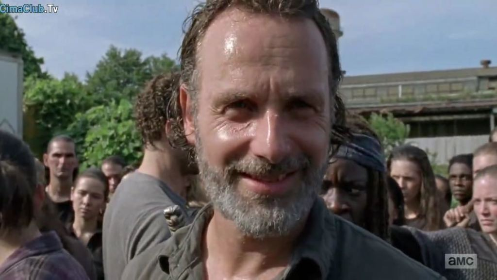 the walking dead season 7 episode 9 rick smiling