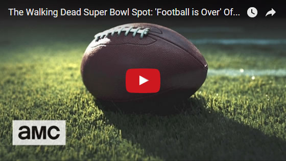 The Walking Dead super bowl 51 teaser football is over feb2017