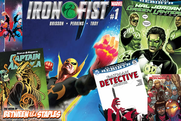 Robert's Comic Book Reviews for March 22, 2017 - Iron Fist #1, Detective Comics 953 & others