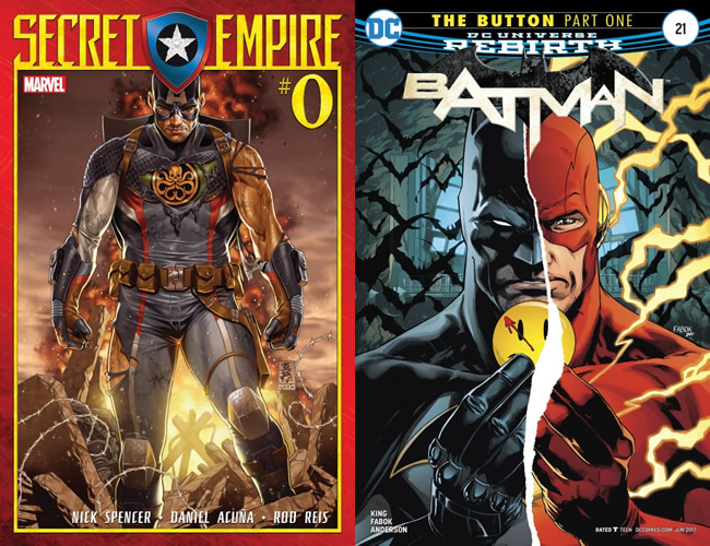 Secret Empire #0 & The Watchmen Button in Batman #21