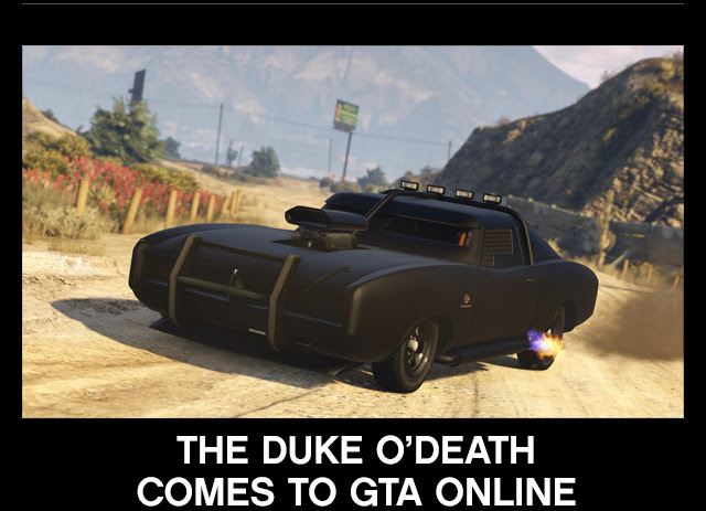 GTA ONLINE: TINY RACERS COMING APRIL 25 - GTA Online - Duke O'Death car now available!