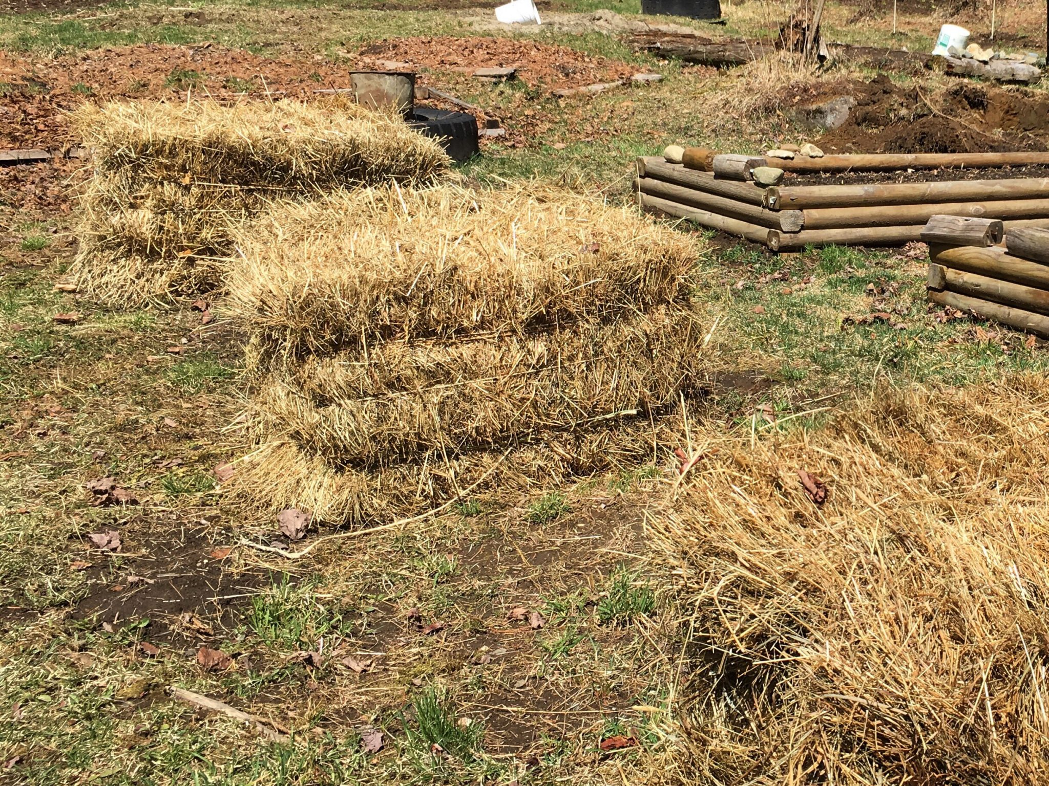 Hay Bale Planters