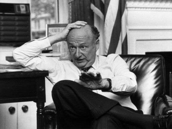 "The charismatic, controversially and outspoken politician led NYC out of its darkest depths when elected as its Mayor in 1977. (The same year the City launched the now ubiquitous, ""I Love New York"" campaign.) Leaving the City only to serve in Europe during WWII and Washington, DC as a member of Congress, Koch was the consummate New Yorker. He was 88."