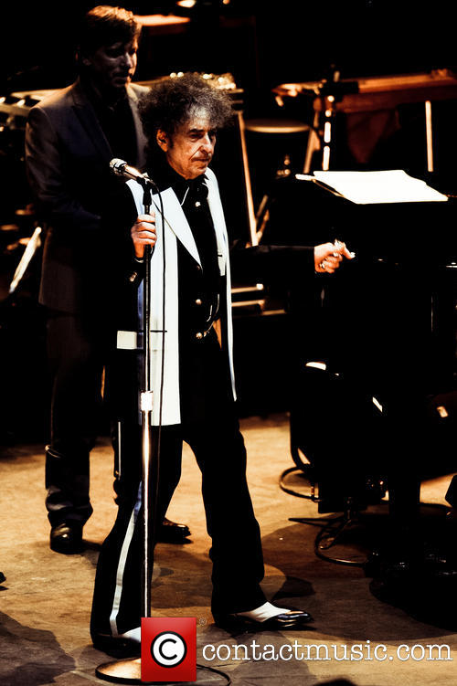 Bob Dylan on stage at the Royal Albert Hall - November 26, 2013