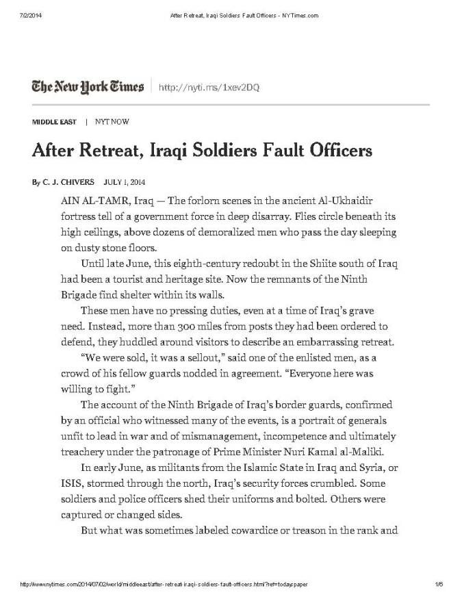 After Retreat, Iraqi Soldiers Fault Officers - NYTimes_Page_1