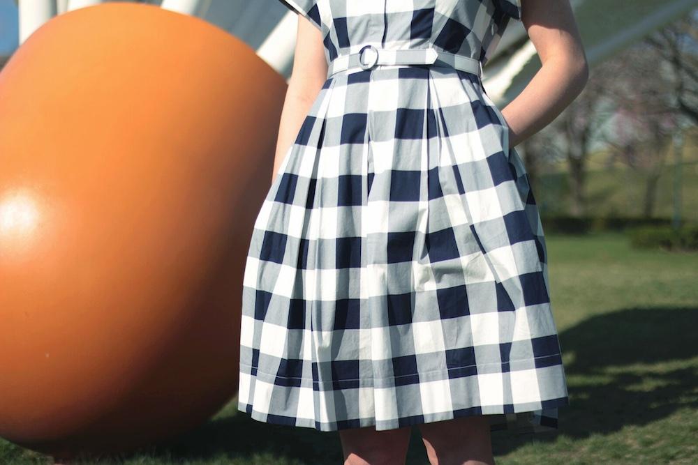 gingham dress fashion blogger
