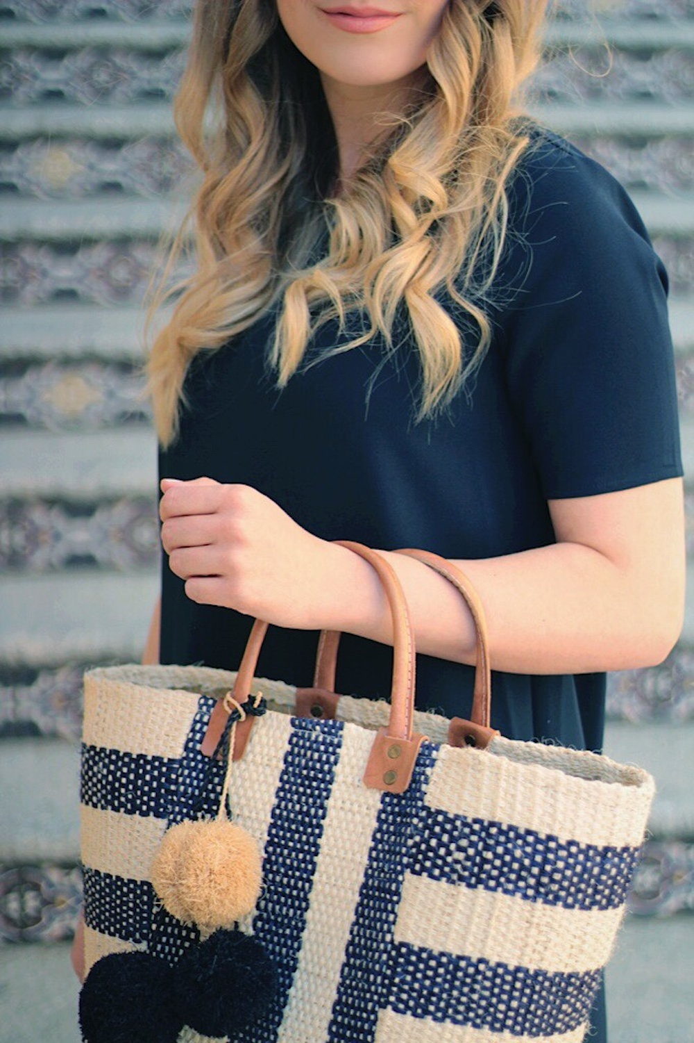 soludos and straw tote