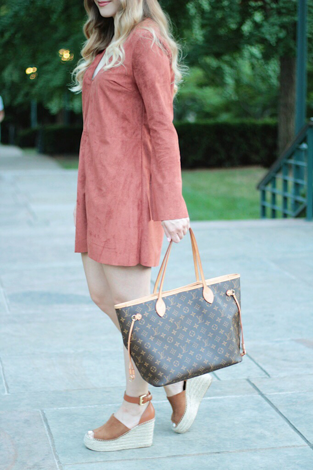 astr suede dress style blogger