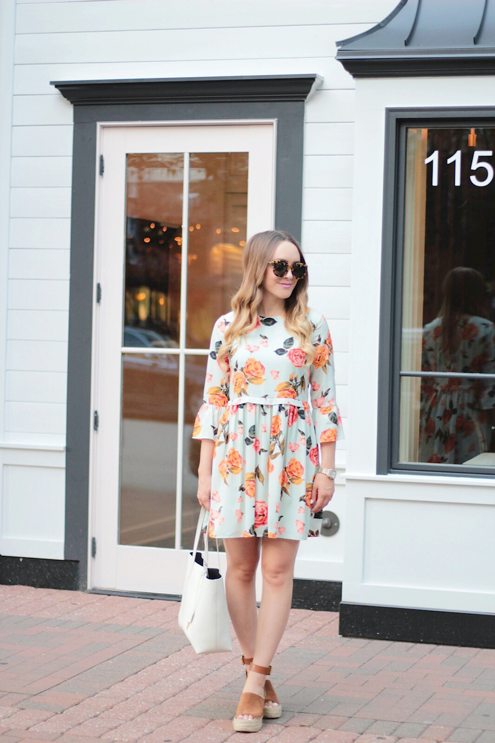 nordstrom summer time floral dress