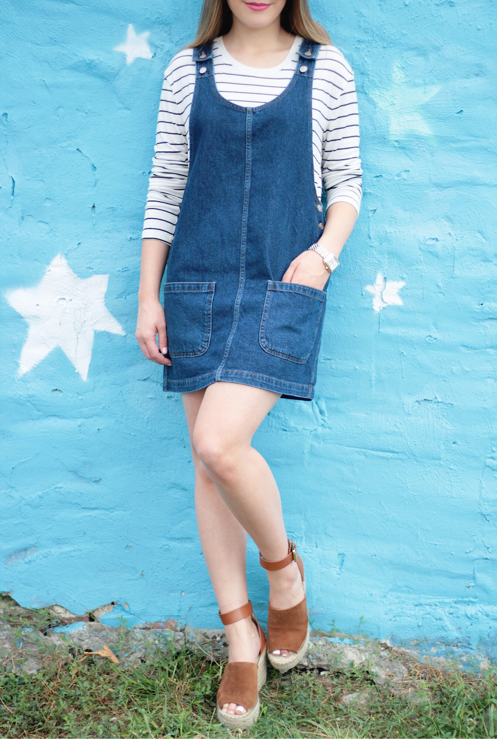 topshop denim dress rachel puccetti