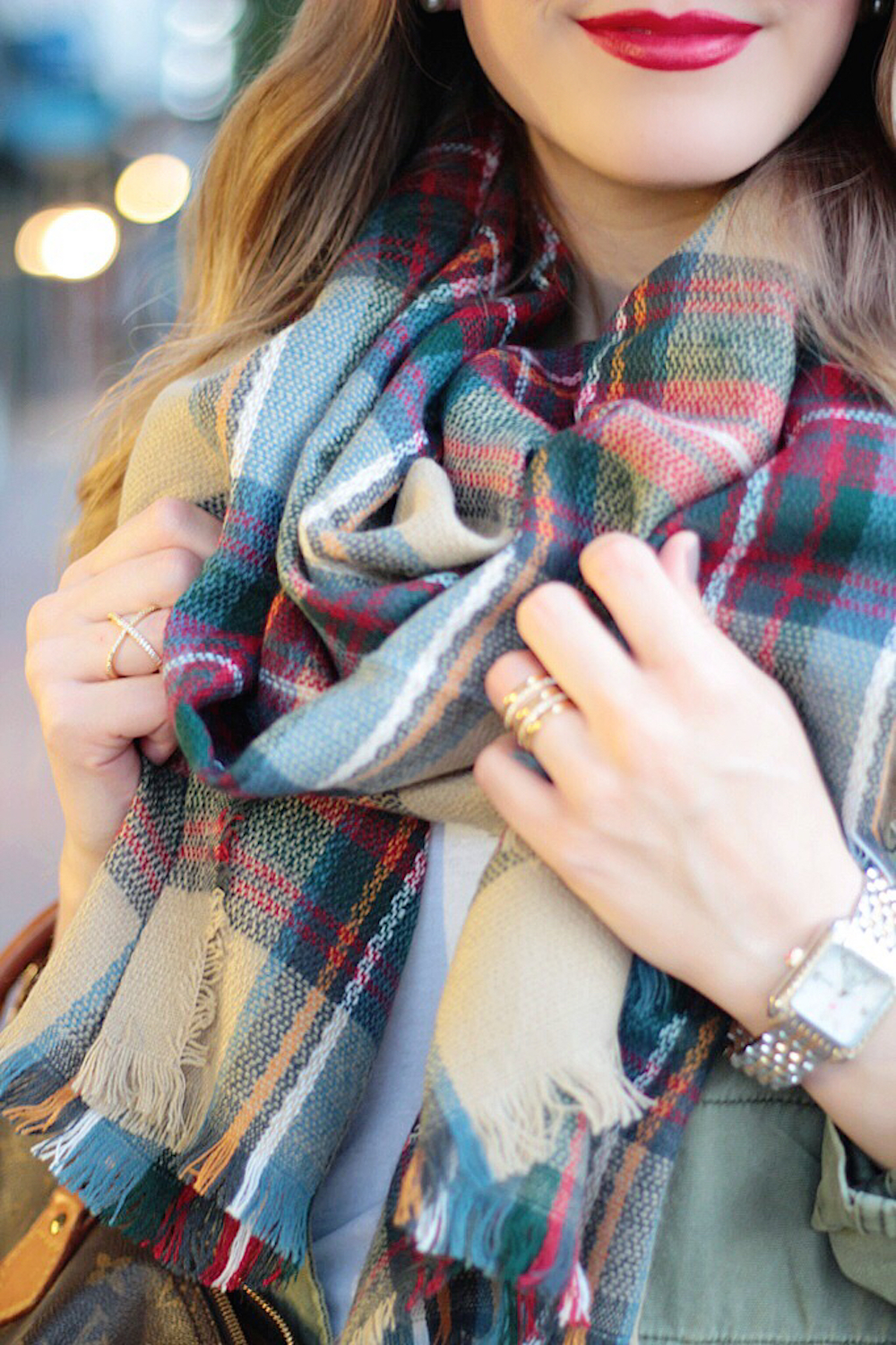 everyones favorite plaid blanket scarf between two coasts