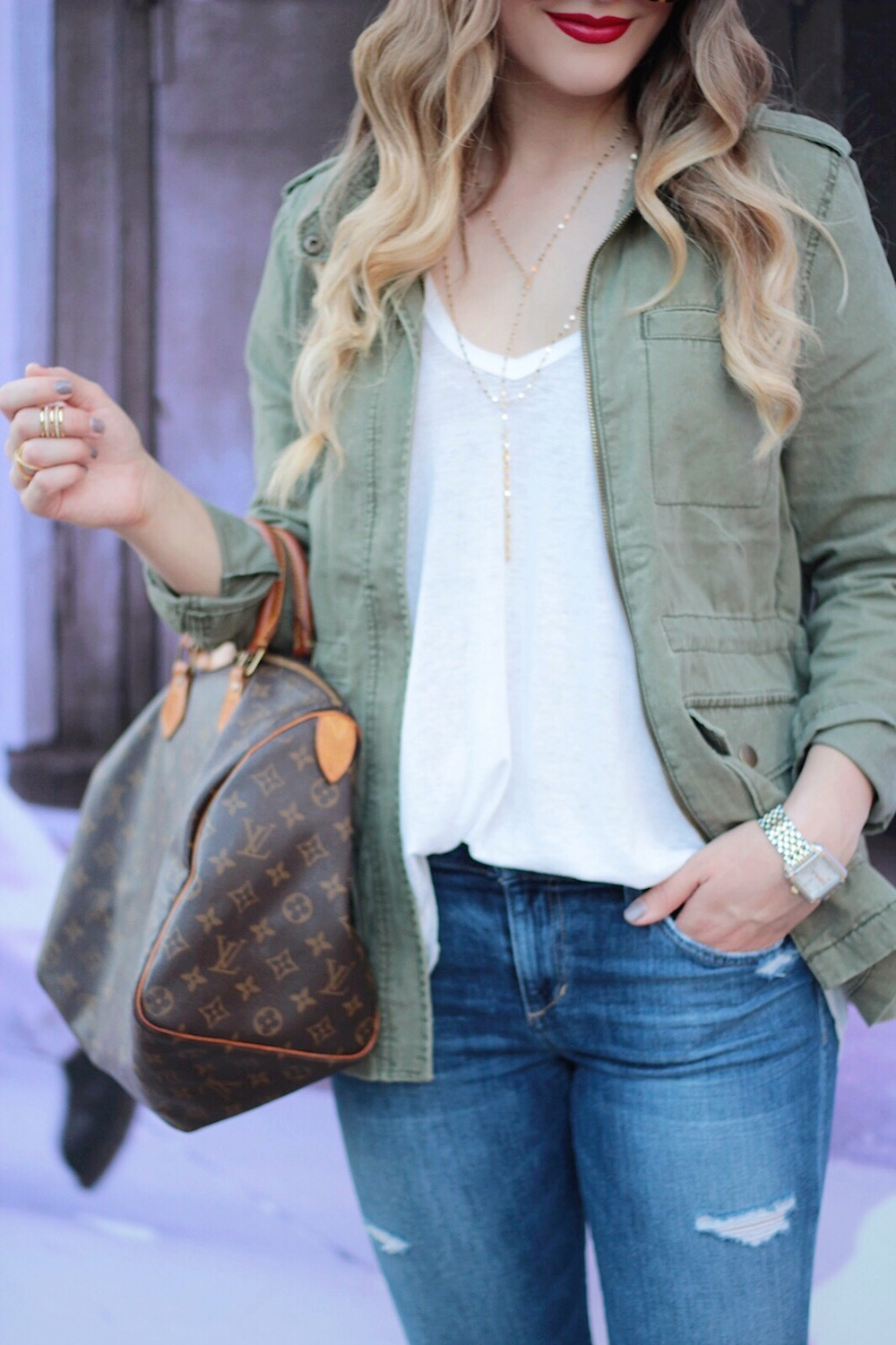 fall style army green jacket between two coasts