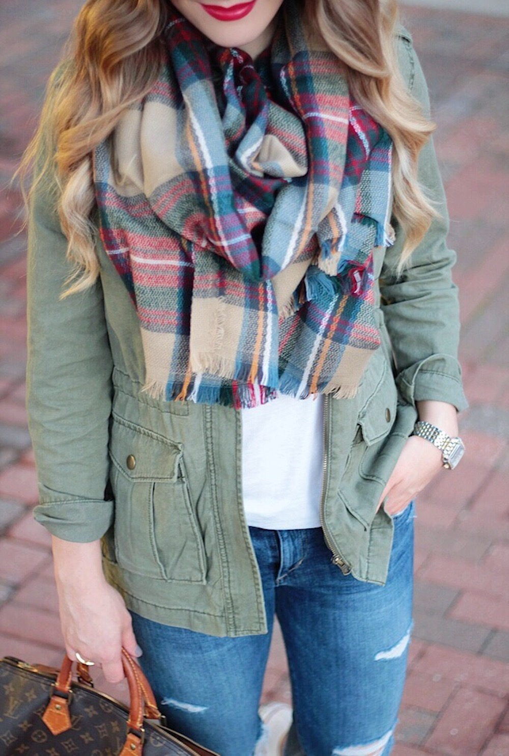 favorite plaid blanket scarf between two coasts