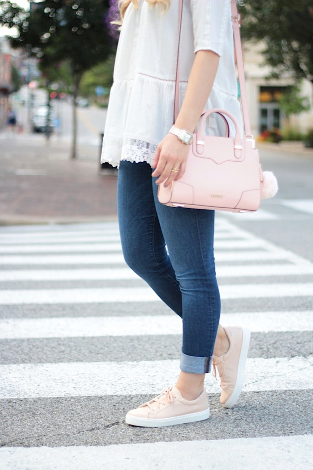 pink topshop sneakers rachel puccetti