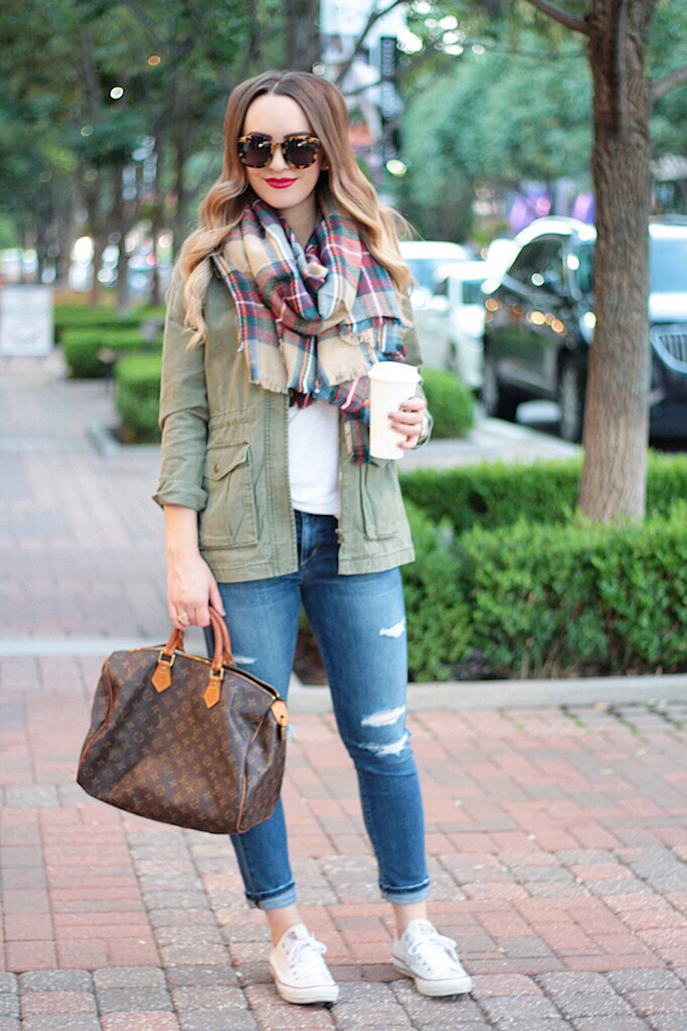 plaid blanket scarf fall style rachel puccetti