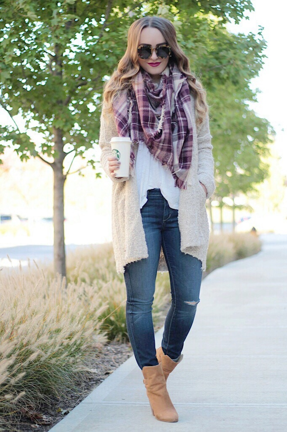 burgundy plaid rachel puccetti between two coasts