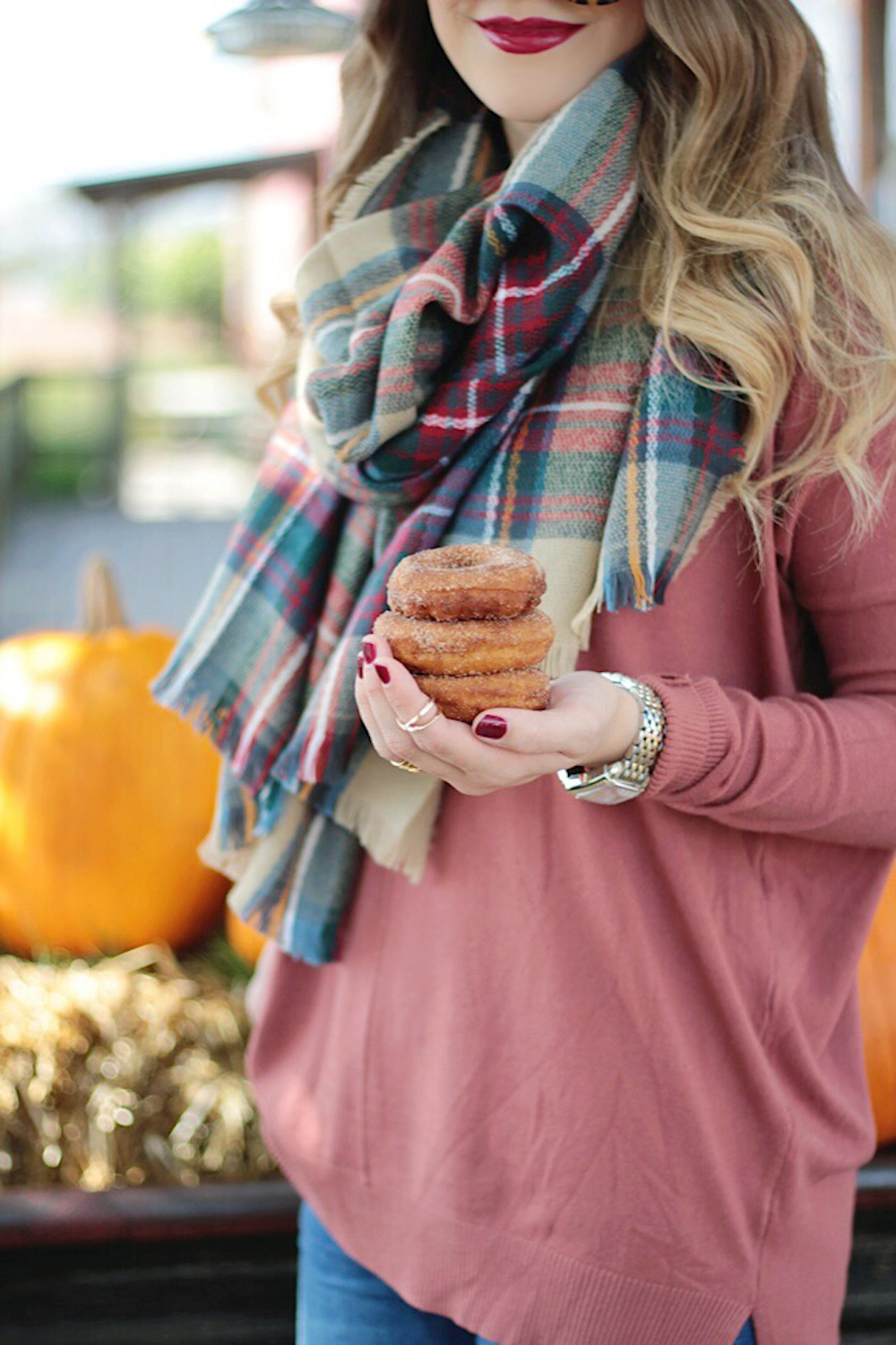 plaid blanket scarf style rachel puccetti between two coasts
