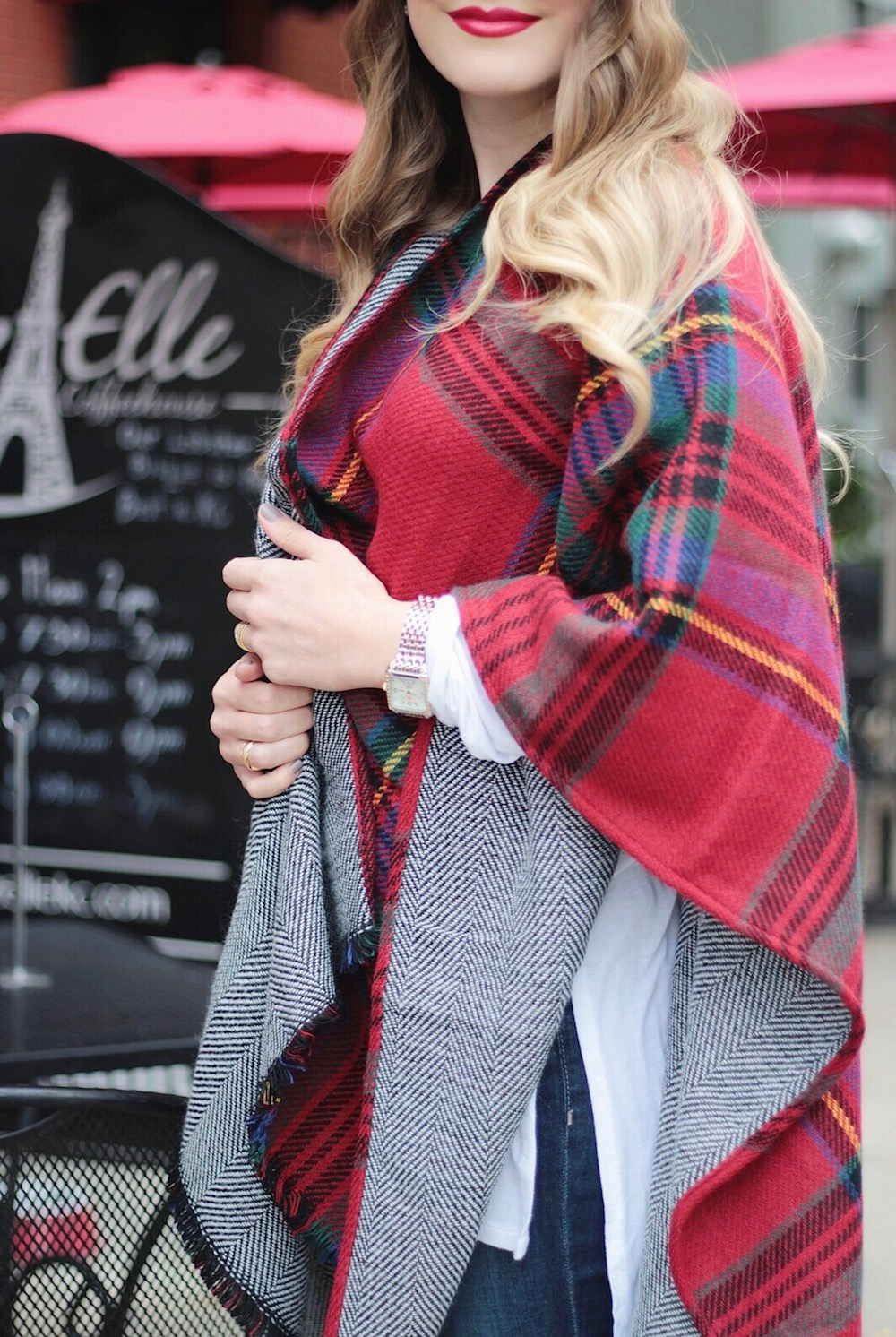 tartan plaid cape fashion blogger rachel puccetti