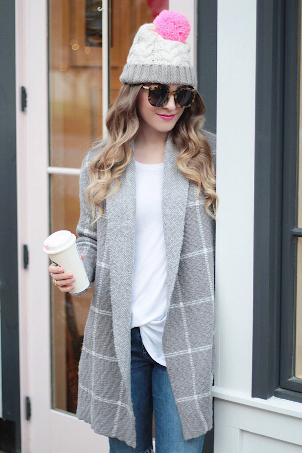 sweater and beanie fall style rachel puccetti between two coasts