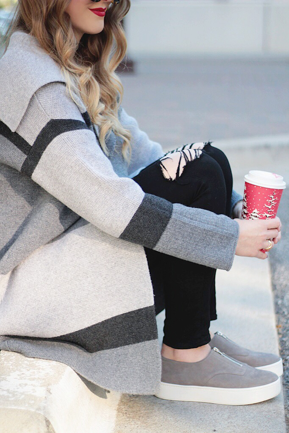 sweater and sneakers street style rachel puccetti