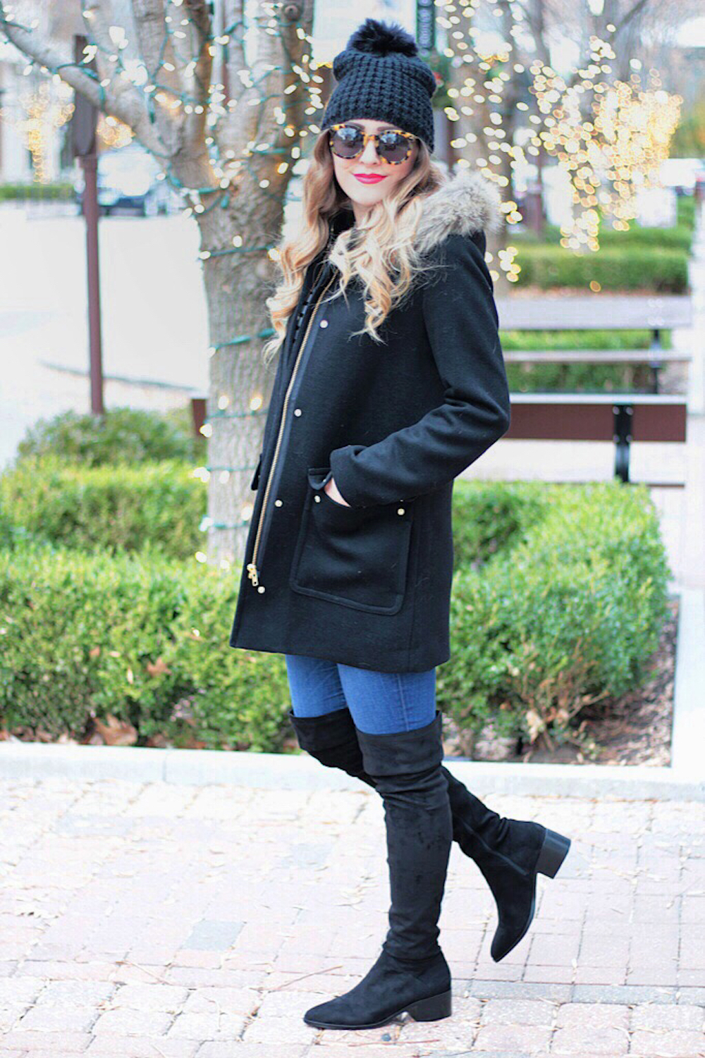 black jcrew factory coat rachel puccetti