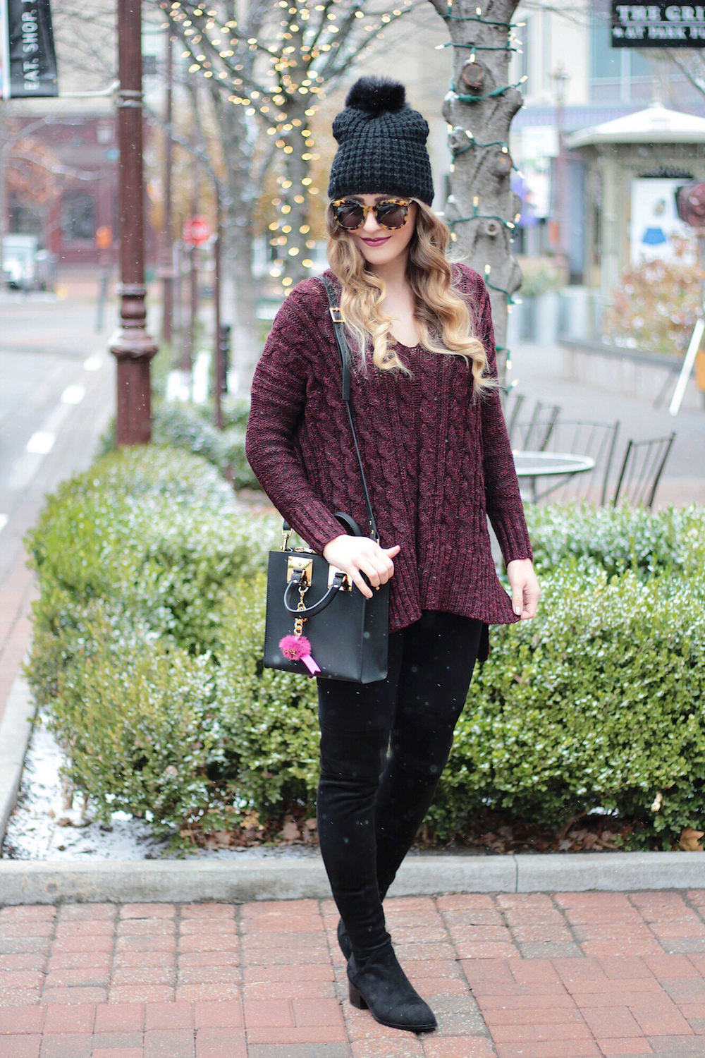 holiday style cable knit sweater rachel puccetti