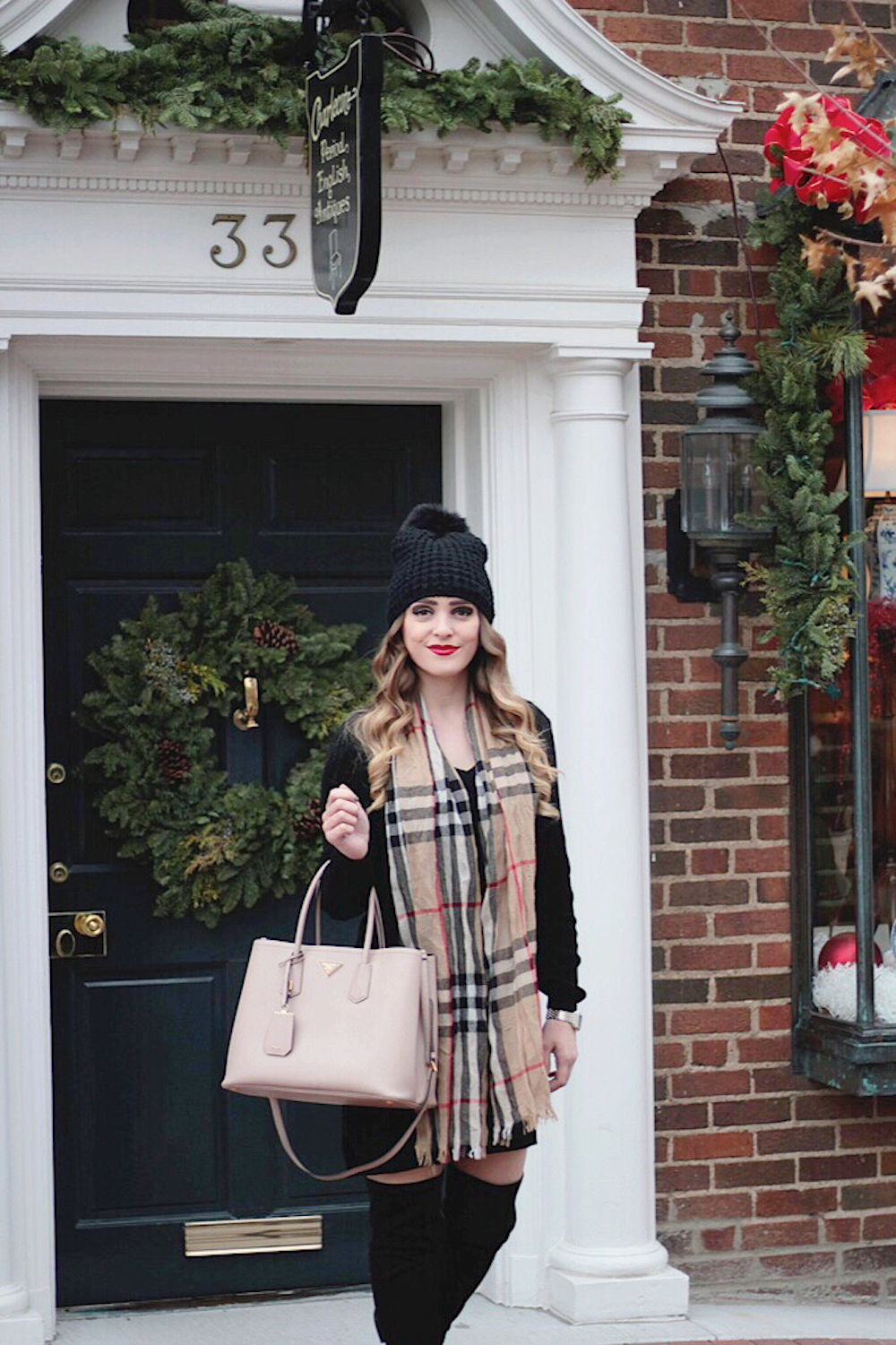 holiday style sweater dress rachel puccetti
