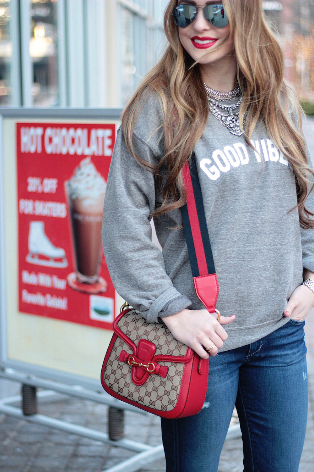 comfy casual sweatshirt street style rachel puccetti