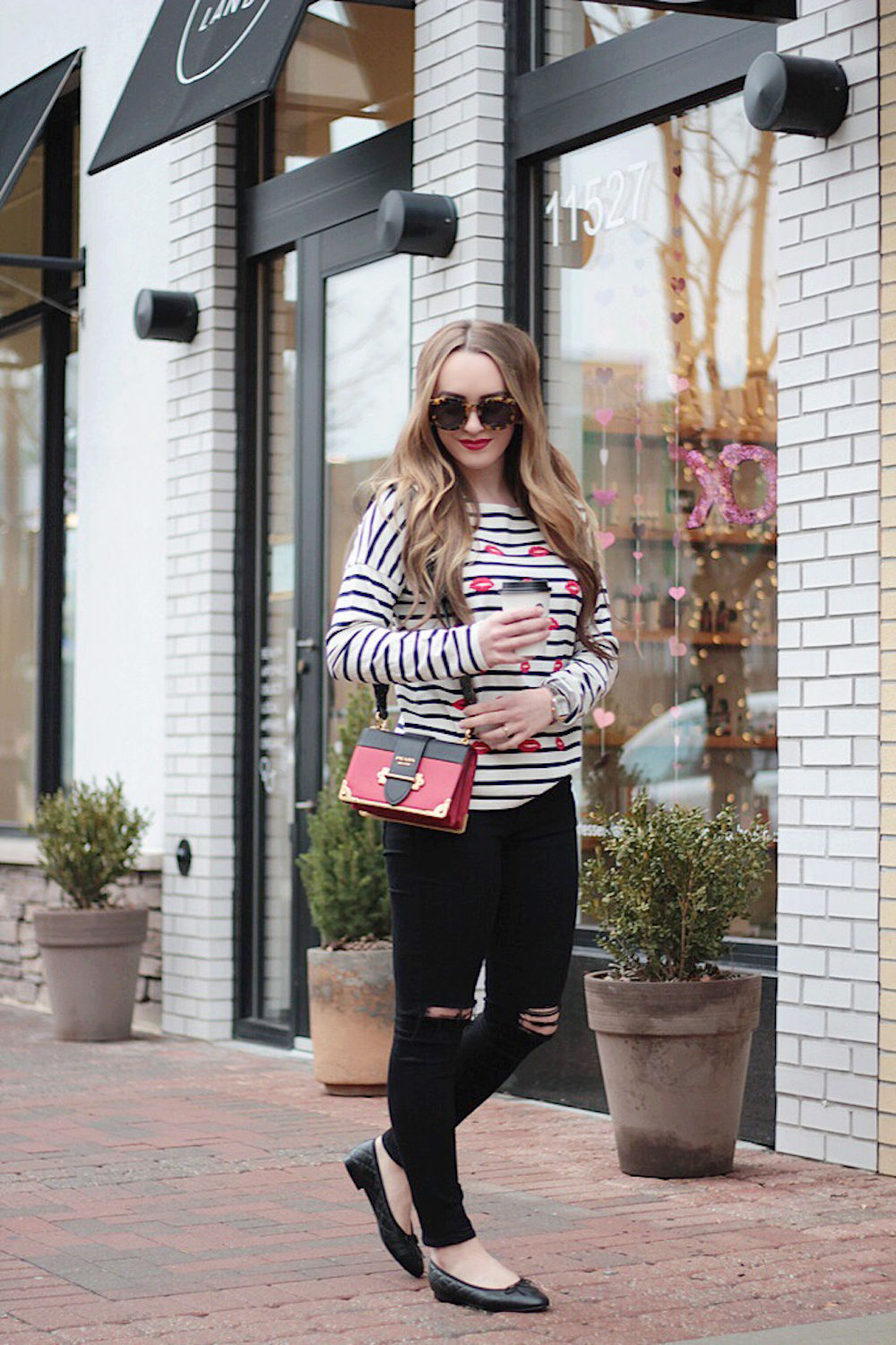 striped tee chanel flats rachel puccetti between two coasts