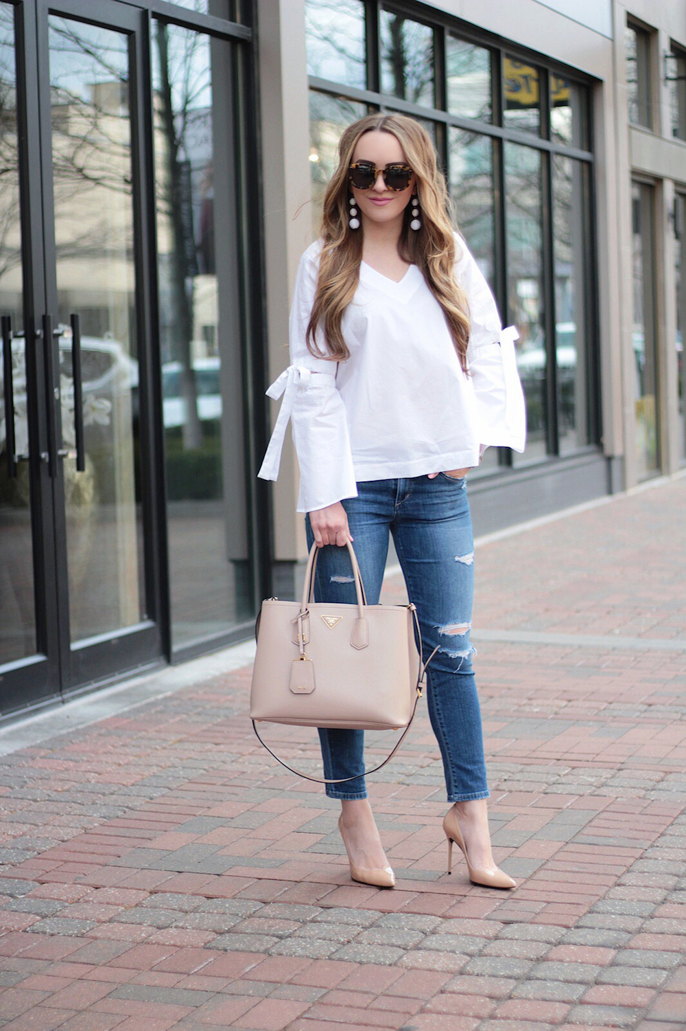 who what wear collection bell sleeve top rachel puccetti