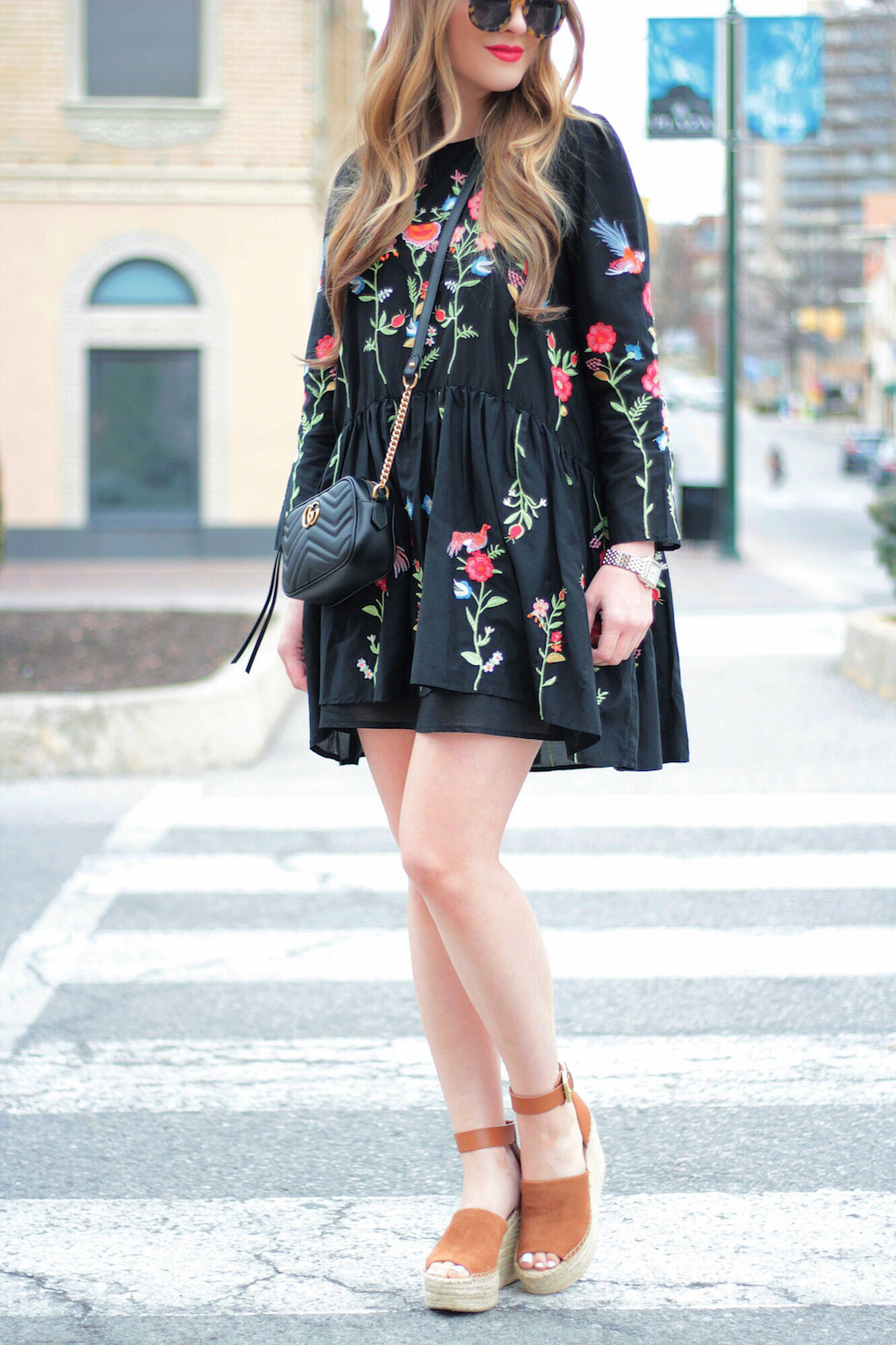black embroidered dress rachel puccetti between two coasts