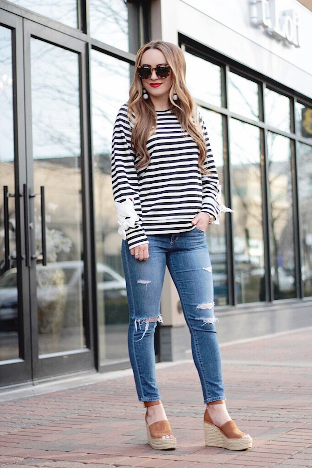 tie sleeve sweatshirt rachel puccetti between two coasts